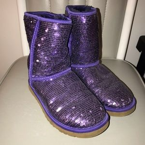 Authentic Ugg Purple Sequin Boots